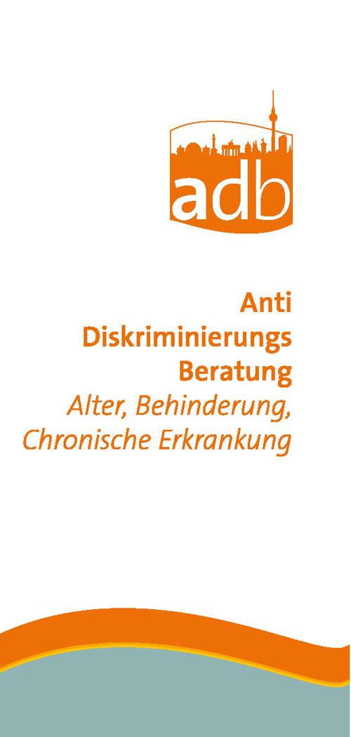 Flyer der Antidiskriminierungsberatung Alter oder Behinderung zum Download